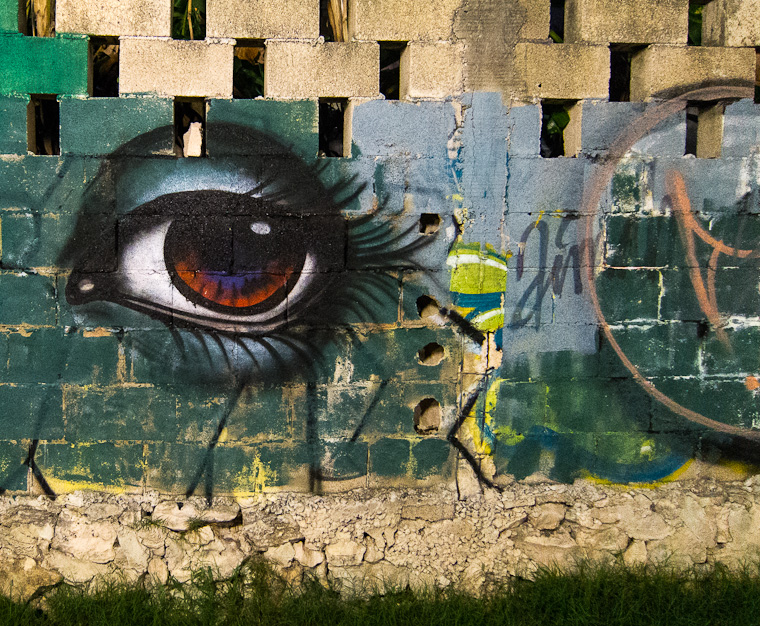 Eye - Street art on 'hidden' Fifth Avenue, Playa Del Carmen