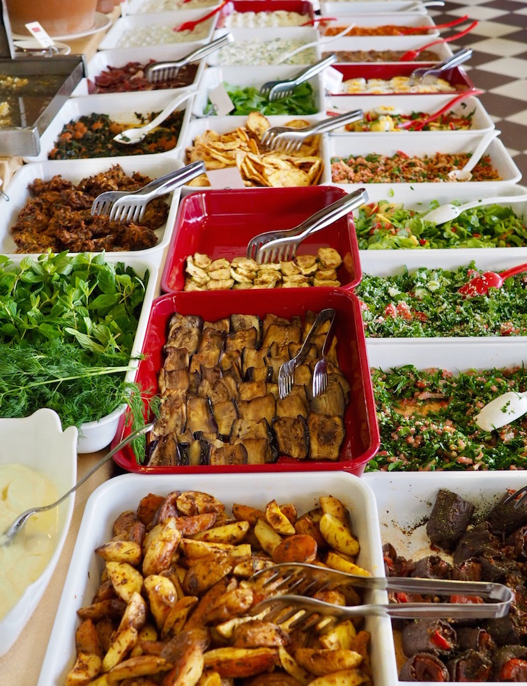 Some of the 100 dishes on offer at Akdeniz Hatay Sofrasi's brunch buffet