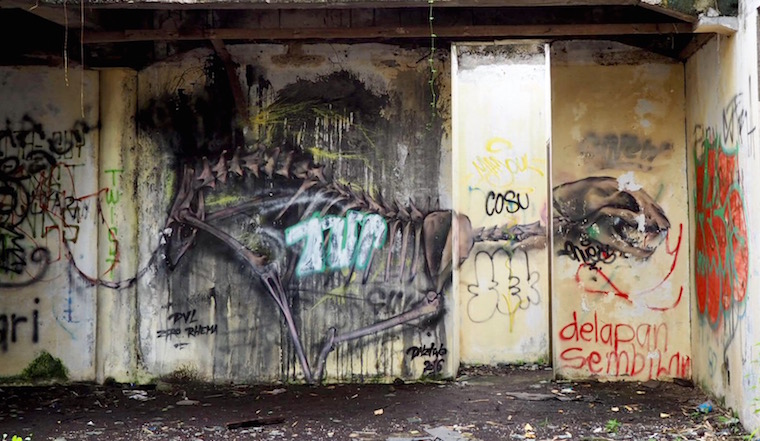 Dinosaur by DNZTWO, abandoned theme park Bali