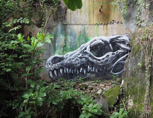 Dino by ROA at the abandoned theme park Taman Festival Bali