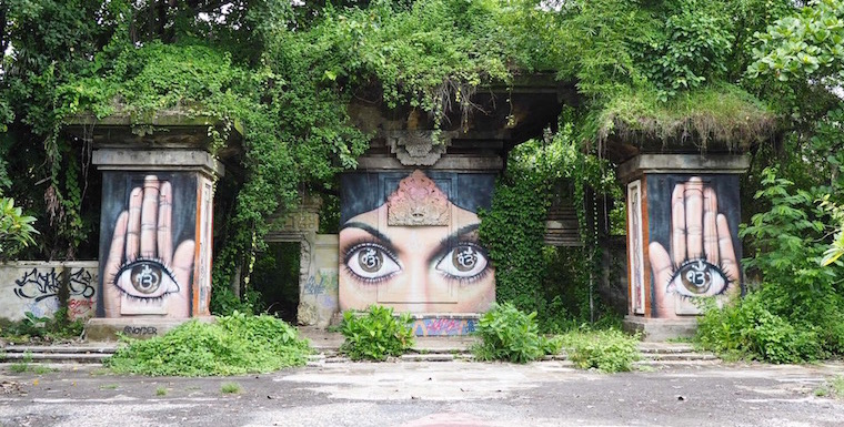 he eyes have it! Artwork by Noyder, Tamaan Festival Bali