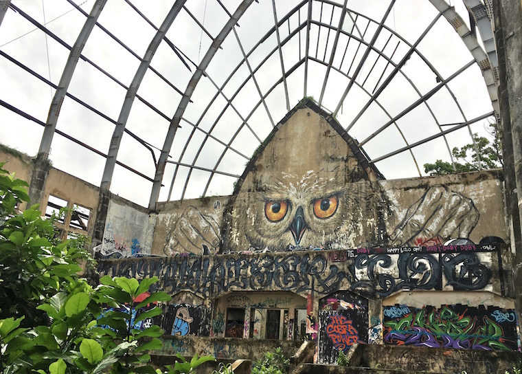 Owl by WD AKA WildDrawing at Taman Festival, an abandoned theme park in Bali