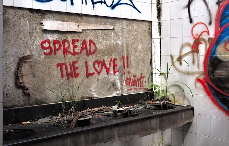 Spread the love by Quint - abandoned theme park, Taman Festival, Bali